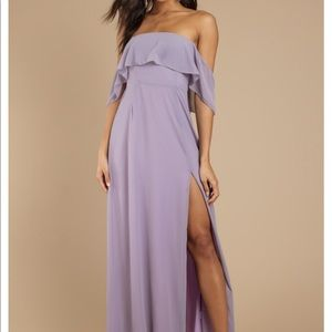 Into You Ruffle Top Maxi Dress - TOBI